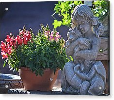 Acrylic Print featuring the photograph Garden Statue by Penni D'Aulerio