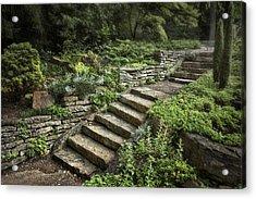 Garden Steps Acrylic Print by Tom Mc Nemar