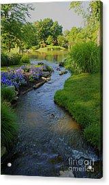 Garden Stream Hdr #9795 Acrylic Print