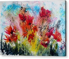 Acrylic Print featuring the painting Garden Tangle by Anne Duke