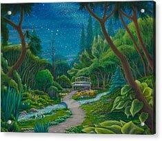 Acrylic Print featuring the painting Garden Under Ursa Major by Matt Konar
