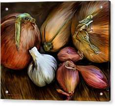 Acrylic Print featuring the painting Garden Vegetables  by Sharon Beth