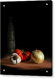Garden Vegetables With Pellegrino Acrylic Print