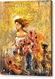 Garden Viii Acrylic Print by Shijun Munns