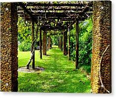 Garden Walkway Acrylic Print by Carey Chen