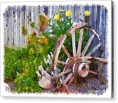Garden Whhel Acrylic Print