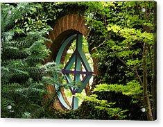 Garden Window Acrylic Print by Kim Pate