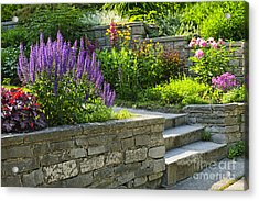 Garden With Stone Landscaping Acrylic Print