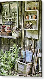 Gardener Corner Acrylic Print by Heather Applegate