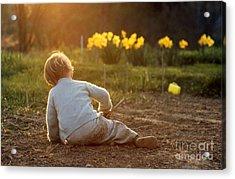 Gardener In Spring Acrylic Print by Erik Falkensteen