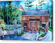 Gardening Shed Acrylic Print by Scott Nelson