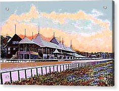 Gardens And Grandstand At Saratoga Racetrack In 1908 Acrylic Print
