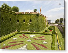 gardens around Montjuic Castle in Barcelona Acrylic Print