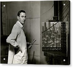Gardner Hale In Front Of A Painting Acrylic Print
