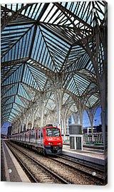 Gare Do Oriente Lisbon Acrylic Print by Carol Japp