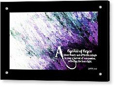 Garen Of Grace 1 Acrylic Print by Christine Nichols