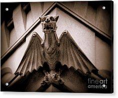 Gargoyle Acrylic Print by Lisa L Silva