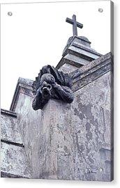 Acrylic Print featuring the photograph Gargoyle On The Italian Vault by Terry Webb Harshman