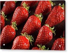 Gariguette Strawberries Acrylic Print by Aberration Films Ltd