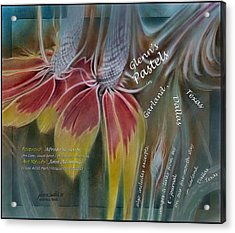 Garland Pastel 2009 Book Cover Acrylic Print by Glenn Bautista