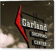 Garland Texas Shopping Acrylic Print by Sonja Quintero