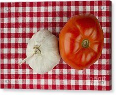 Garlic And Tomato Acrylic Print by Blink Images