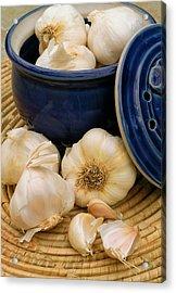 Garlic Acrylic Print by James Temple