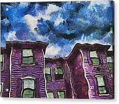 Garret Row Acrylic Print by Wendy J St Christopher
