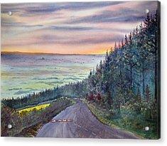 Garrowby Hill Acrylic Print