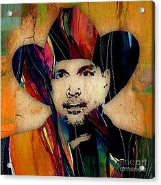Garth Brooks Collection Acrylic Print by Marvin Blaine