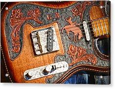 Gary Allan's Guitar Acrylic Print by Don Olea