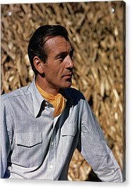 Gary Cooper In Profile Acrylic Print by Alexander Paal