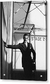 Gary Cooper Leaning On A Wall Acrylic Print