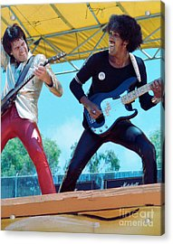 Gary Moore And Phil Lynott Of Thin Lizzy At Day On The Green 4th Of July 1979 - 1st Color Unreleased Acrylic Print