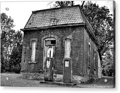 Gas At 41 Cents A Gallon Bw Acrylic Print by John Nielsen