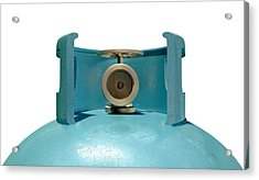 Gas Cylinder Valve Closeup Acrylic Print by Allan Swart