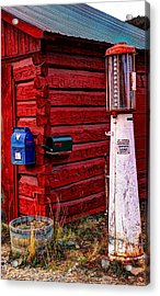 Gas Pump Post Office Acrylic Print