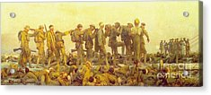 Gassed Acrylic Print by Pg Reproductions