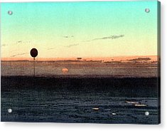 Gaston Tissandier's Balloon Silhouette Acrylic Print by Universal History Archive/uig