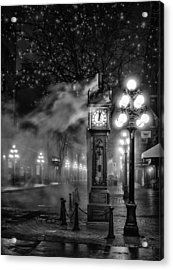 Gastown Steam Clock Acrylic Print by Alexis Birkill