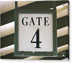 Gate #4 Acrylic Print by Joy Hardee