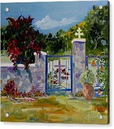 Gate At Tharri Monastery - Rhodes Acrylic Print
