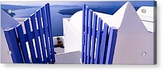 Gate At The Terrace Of A House Acrylic Print by Panoramic Images
