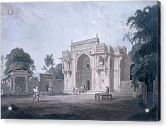 Gate Leading To A Mosque, Chunargarh Acrylic Print by Thomas & William Daniell