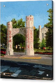 Gate On Parrington Oval At Ou Acrylic Print