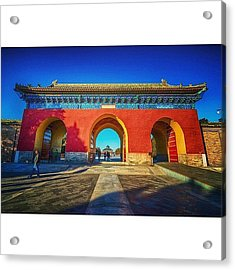 Gate To Imperial Walkway In Temple Of Acrylic Print