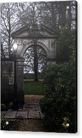 Gate With Lamp Post Acrylic Print