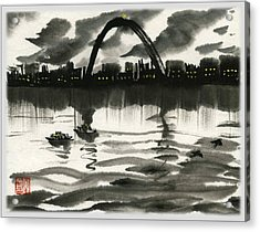 Acrylic Print featuring the painting Gateway Arch by Ping Yan