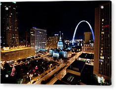 Gateway Arch St Louis Night Acrylic Print