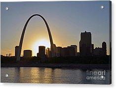 Gateway Arch Sunset Acrylic Print